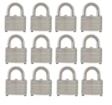 ABUS Pack of 12 Economy Laminated Steel Warded Padlock, 1-3/4'' wide, Keyed Alike