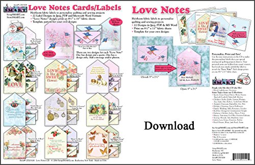 - ScrapSMART - Love Notes Fabric Labels - Software Collection - Jpg, PDF, and MS Word files for Mac [Download]