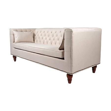 Amazon.com: Lexington sofá de 3 plazas, color crema: Kitchen ...