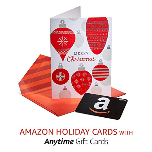 Large Product Image of Amazon Premium Greeting Cards with Anytime Gift Cards, Pack of 3 (Merry Christmas Design)