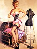 Corset Pin-Up Girl Gil Elvgren Print 8 in x 10 in Unmatted, Unframed