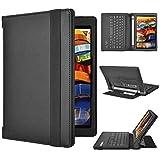 Lenovo YOGA Tab 3 8 Keyboard case, KuGi ® High quality Ultra-thin Detachable Bluetooth Keyboard Stand Portfolio Case / Cover for Lenovo YOGA Tablet 3 8 inch tablet. (Black)