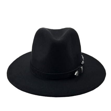 87eebe64d1d Amazon.com  Myhome99 Felt Hat Men Fedora Hats with Belt Women ...