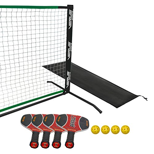 Verus Sports Premium Pickleball Set with 4 Wooden Paddles & 4 Outdor Balls by Verus Sports