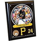 """MLB Pittsburgh Pirates Pedro Alvarez Plaque with Game Used Dirt from PNC Park, 8"""" x 10"""", Navy"""