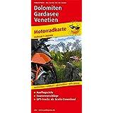 Dolomiten - Gardasee - Venetien: Motorradkarte mit Ausflugszielen und Freizeittipps, wetterfest, reissfest, abwischbar, GPS-genau. Mit Tourenvorschlägen. 1:250000 (Motorradkarte/MK)