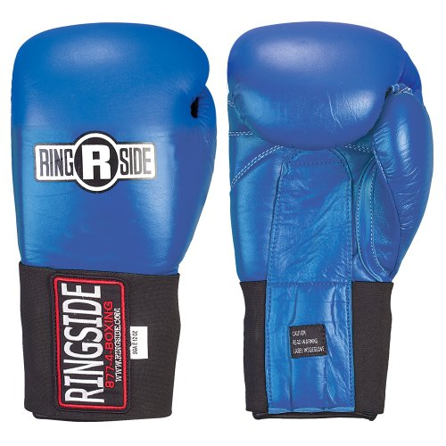 Ringside Competition Safety Gloves – Hook & Loop (Blue, 10-Ounce)