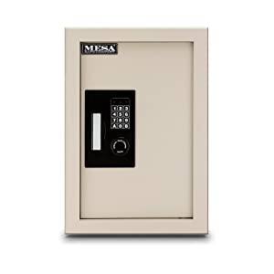 Mesa Safe Company Model MAWS2113E Electronic Wall Safe, Cream