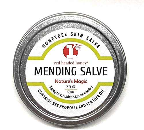 red headed honeys Propolis and Tea Tree Oil All Purpose Healing Skin Salve Tin Natural Treatment, 2 oz.
