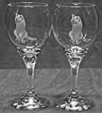 Muddy Creek Reflection Siamese Cat Laser Etched Wine Glass Set (2, TDW) Review