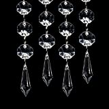 30PCS Acrylic Crystal Clear Garland Hanging Bead Curtain Wedding Club Party Decor