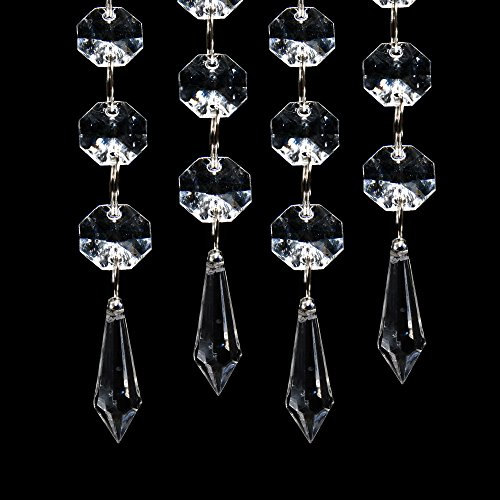 XCSOURCE 30PCS Acrylic Crystal Clear Garland Hanging Bead Curtain Wedding Club Party Decoration WV220]()