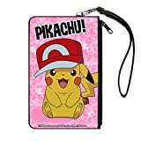 Pokemon Pikachu Pink Canvas Zip Wallet