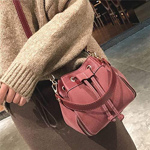 funzione femminile donne scrub tracolla Borsa Mini vino piccola vino secchio rosso femminile per a cintura moda borsa creativo multi rosso diagonale le borsa x70AXqAnU