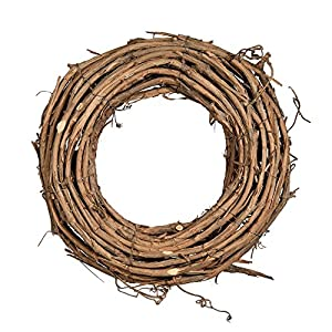 "Shine Company 6601 Natural Grapevine Wreath, 12"", 2 Pack 13"