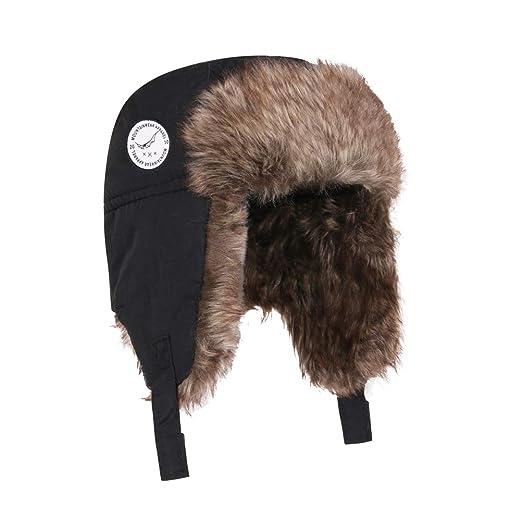 460586faf96 Moon Kitty Boys Winter Hats Big Kids Nylon Russian Aviator Winter Earflap  Cap