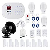 Fortress Security Store S02-E Wireless Home Security Alarm System DIY Kit with Auto Dial + Outdoor Siren, Glass Sensor & More for Complete Business and Home Security Fortress Security Store