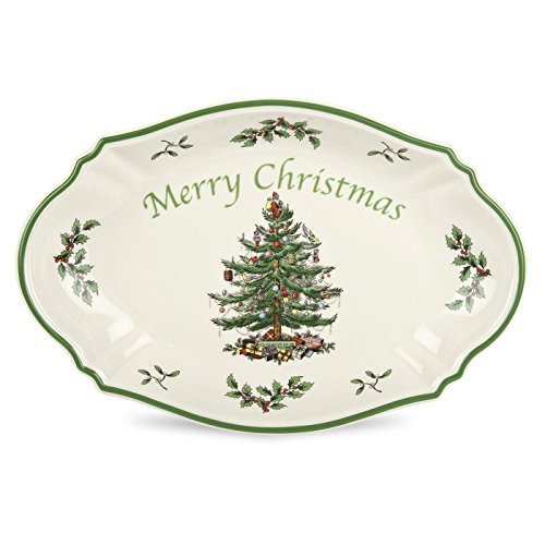 Christmas Serving Dishes (Spode Christmas Tree Merry Christmas Tree Tray)