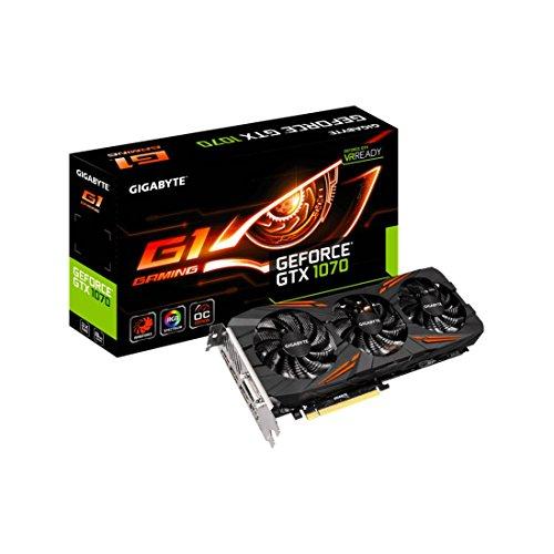 GIGABYTE ビデオカード NVIDIA GeForce GTX 1070搭載 ゲーミングモデル GV-N1070G1 Gaming-8GD