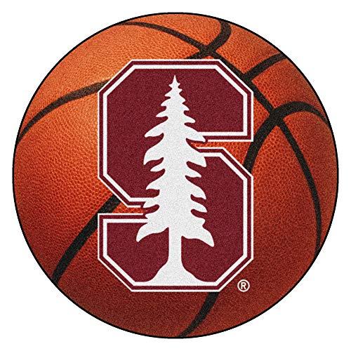 (FANMATS NCAA Stanford University Cardinal Nylon Face Basketball Rug)