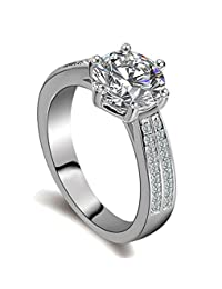 Ring for Women 925 Sterling Silver Cubic Zirconia CZ Diamond Eternity Engagement Wedding Band Rings