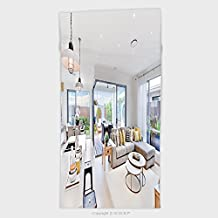 11.8W x 27.5L Inches Custom Cotton Microfiber Ultra Soft Hand Towel Modern Kitchen Area Attached To The Living Room Beside A Patio And Dinner Area Near To Outside 46366