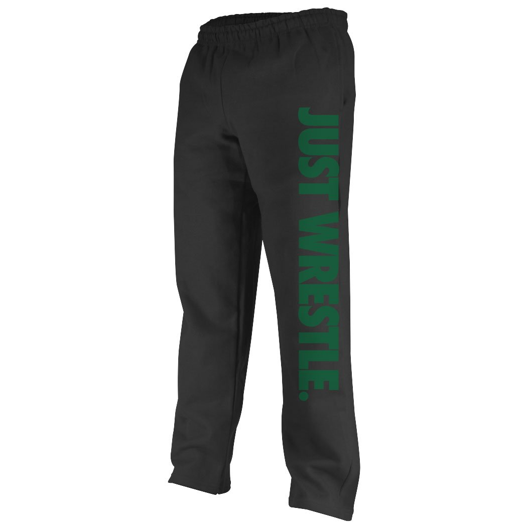 Youth To Adult Sizes Just Wrestle Sweatpants Multiple Colors Wrestling Apparel by ChalkTalk SPORTS