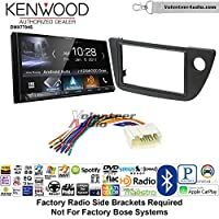 Volunteer Audio Kenwood DMX7704S Double Din Radio Install Kit with Apple CarPlay Android Auto Bluetooth Fits 2002-2006 Acura RSX