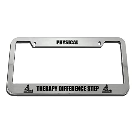PHYSICAL THERAPY DIFFERENCE STEP License Plate Frame Tag Holder