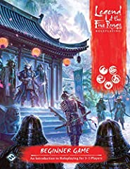 Enter the realm of Rokugan with the legend of the five rings roleplaying beginner game, a new roleplaying experience in the land of honor and steel. The legend of the five rings roleplaying beginner game allows anyone to take on the role of a...