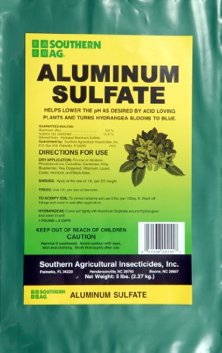 Aluminum Sulfate - Acidifies Soil (lowers pH) - 10 X 5 Pound Bag (10 bags/case)