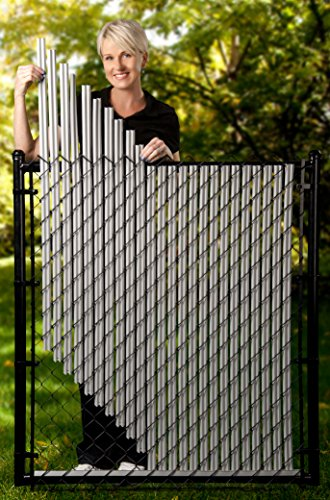 4ft Gray Ridged Slats For Chain Link Fence Hardware Home