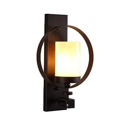 American Retro Art Fer Lampe Murale Lampes Salon Balcon Corridor Créative Appliques D'Allée