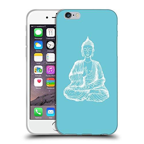 GoGoMobile Coque de Protection TPU Silicone Case pour // Q10000627 Bouddha assis 11 Cyan // Apple iPhone 7
