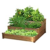 Yaheetech 3 Tier Wooden Elevated Raised Garden Bed Planter Box Kit...