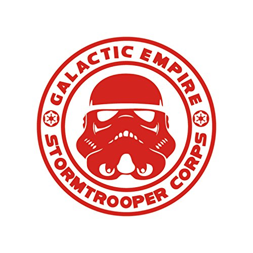 Athena Star Wars Galactic Empire Stormtrooper Corps Red Decal Vader Sith Skywalker inyl Window SUV Auto Truck Waterproof Bumper Sticker Size: -