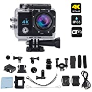 #LightningDeal 90% claimed: Ace-Cam 4K Ultra HD Upgraded Wifi Sports Action Camera - 16MP 170° Extreme Wide Angle Lens