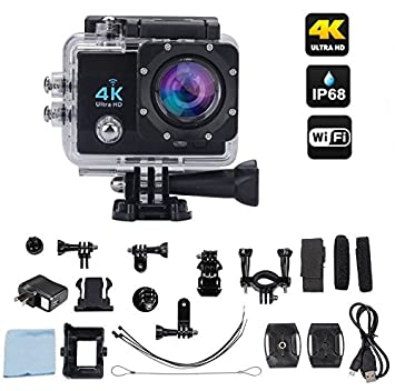 Ace-Cam 4K Ultra HD Upgraded Wifi Sports Action Camera - 16MP 170 ...