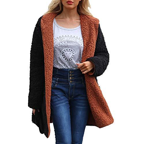 Reversible Spandex Skirt (Faionny Womens Warm Cardigan Coat Artificial Wool Coat Dichroic Reversible Jacket Solid Parka Windbreaker)