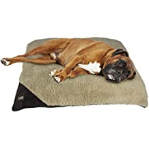 All for paws 29 by 42-Inch Lambswool Pillow Bed for Dogs, Large, Brown