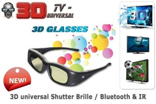 3PC 3D ACTIVE SHUTTER GLASSES UNIVERSAL IR,RF BLUETOOTH, FOR FHD 3D TV!! SAMSUNG