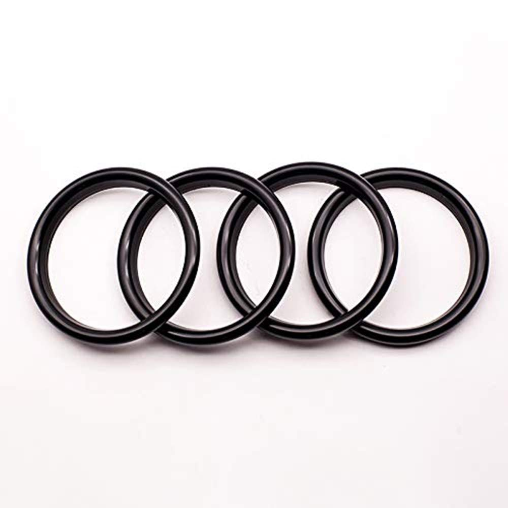 Freenavi Air Conditioning Ring Cover Air Exit Cover Decoration Sticker for Audi A3 S3 2013-2016 / Q2 2017 Accessories, Car-Styling 4pcs (Black)