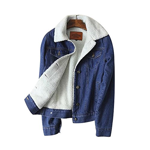 Denim Jacket, Women Autumn Winter Denim Upset Jacket Vintage Long Sleeve Loose Jeans Coat