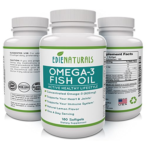 Prenatal Formula 180 Caps (Omega-3 Fish Oil 180 Capsules for Max Joint Pain Relief and Flexibility * Highest EPA DHA * Strengthens Heart Health and Immune System * 6 Months)