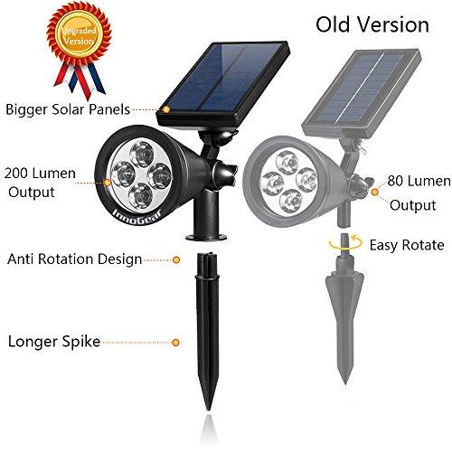 solar lights 2 in 1 waterproof outdoor landscape lighting spotlight