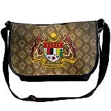Lov6eoorheeb Unisex Coat Of Arms Of Malaysia Wide Diagonal Shoulder Bag Adjustable Shoulder Tote Bag Single Shoulder Backpack For Work,School,Daily
