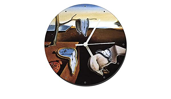 MasTazas Dali La Persistencia De La Memoria The Persistence of Memory Reloj de Pared Wall Clock 20cm: Amazon.es: Hogar