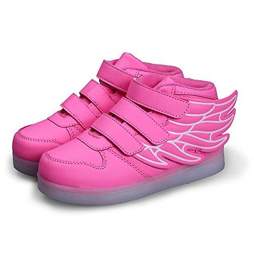 MOREMOO Boys Girls LED Light up Shoes Flashing Sneakers Danc
