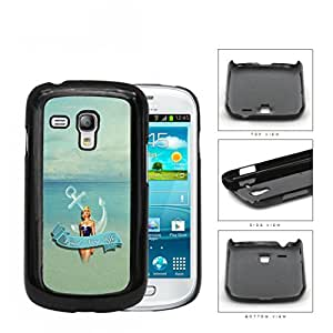 Proud Navy Wife with Vintage Pin Up Girl Anchor and Ocean View Samsung i8190 Galaxy S3 (MINI) Hard Snap on Plastic Cell Phone Case Cover