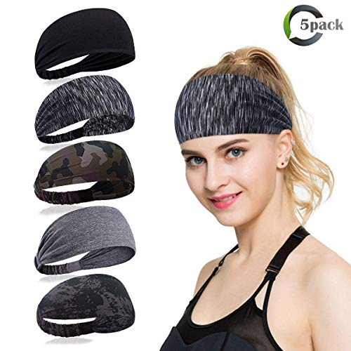 ECOMBOS Sport Stirnband für Frauen Lady - Headband Schweißband für Workout, Jogging, Walking, Yoga, Fitness, Crossfit